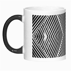 Black And White Line Abstract Morph Mugs