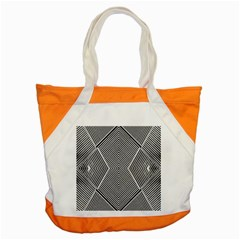 Black And White Line Abstract Accent Tote Bag