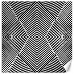 Black And White Line Abstract Canvas 20  X 20