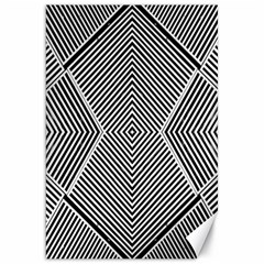 Black And White Line Abstract Canvas 20  X 30