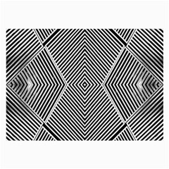 Black And White Line Abstract Large Glasses Cloth