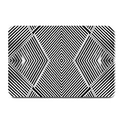 Black And White Line Abstract Plate Mats