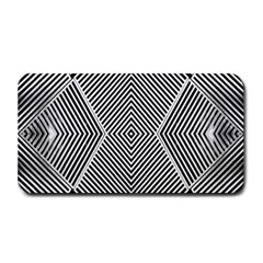 Black And White Line Abstract Medium Bar Mats