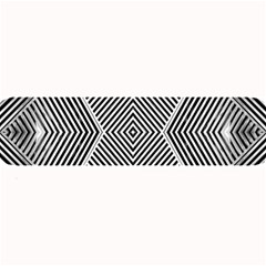 Black And White Line Abstract Large Bar Mats