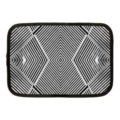 Black And White Line Abstract Netbook Case (medium)