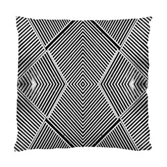Black And White Line Abstract Standard Cushion Case (One Side)