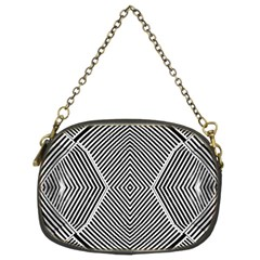 Black And White Line Abstract Chain Purses (Two Sides)