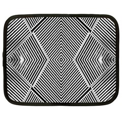 Black And White Line Abstract Netbook Case (XL)