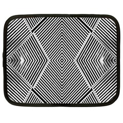 Black And White Line Abstract Netbook Case (xxl)