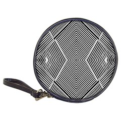 Black And White Line Abstract Classic 20-CD Wallets