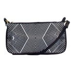 Black And White Line Abstract Shoulder Clutch Bags Front