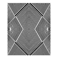 Black And White Line Abstract Shower Curtain 60  x 72  (Medium)