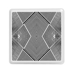 Black And White Line Abstract Memory Card Reader (Square)