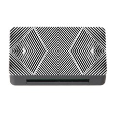 Black And White Line Abstract Memory Card Reader with CF