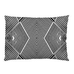 Black And White Line Abstract Pillow Case (two Sides)