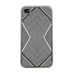 Black And White Line Abstract Apple Iphone 4 Case (clear)