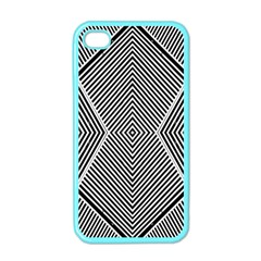 Black And White Line Abstract Apple iPhone 4 Case (Color)