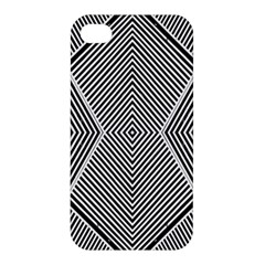 Black And White Line Abstract Apple iPhone 4/4S Hardshell Case