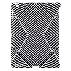 Black And White Line Abstract Apple Ipad 3/4 Hardshell Case (compatible With Smart Cover)
