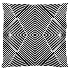 Black And White Line Abstract Large Cushion Case (two Sides)