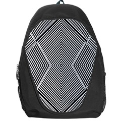 Black And White Line Abstract Backpack Bag