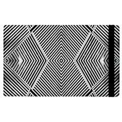 Black And White Line Abstract Apple iPad 2 Flip Case