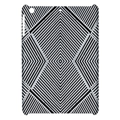 Black And White Line Abstract Apple Ipad Mini Hardshell Case