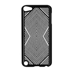 Black And White Line Abstract Apple Ipod Touch 5 Case (black)