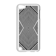 Black And White Line Abstract Apple iPod Touch 5 Case (White)