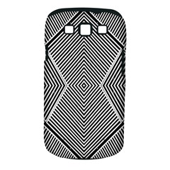 Black And White Line Abstract Samsung Galaxy S Iii Classic Hardshell Case (pc+silicone)