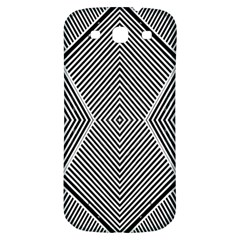 Black And White Line Abstract Samsung Galaxy S3 S III Classic Hardshell Back Case