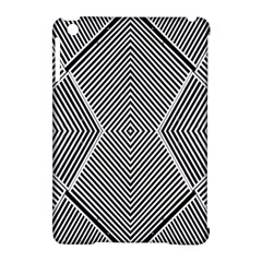 Black And White Line Abstract Apple Ipad Mini Hardshell Case (compatible With Smart Cover)