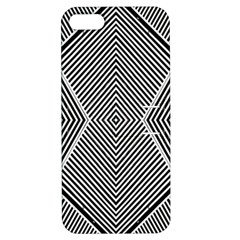Black And White Line Abstract Apple iPhone 5 Hardshell Case with Stand
