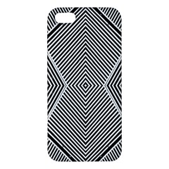 Black And White Line Abstract Apple Iphone 5 Premium Hardshell Case