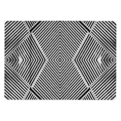 Black And White Line Abstract Samsung Galaxy Tab 10 1  P7500 Flip Case