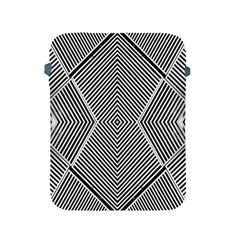 Black And White Line Abstract Apple Ipad 2/3/4 Protective Soft Cases