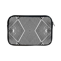 Black And White Line Abstract Apple iPad Mini Zipper Cases