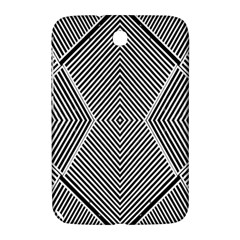 Black And White Line Abstract Samsung Galaxy Note 8 0 N5100 Hardshell Case