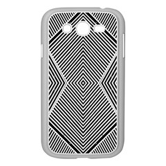 Black And White Line Abstract Samsung Galaxy Grand Duos I9082 Case (white)
