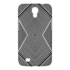 Black And White Line Abstract Samsung Galaxy Mega 6.3  I9200 Hardshell Case