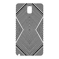Black And White Line Abstract Samsung Galaxy Note 3 N9005 Hardshell Back Case