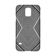 Black And White Line Abstract Samsung Galaxy S5 Hardshell Case