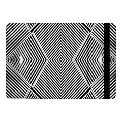 Black And White Line Abstract Samsung Galaxy Tab Pro 10 1  Flip Case