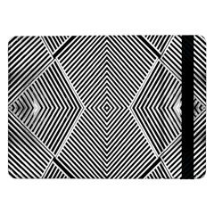 Black And White Line Abstract Samsung Galaxy Tab Pro 12.2  Flip Case