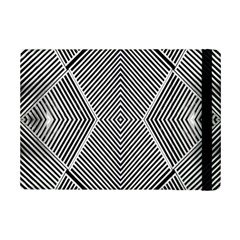 Black And White Line Abstract Ipad Mini 2 Flip Cases