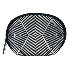 Black And White Line Abstract Accessory Pouches (medium)