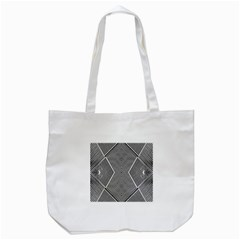 Black And White Line Abstract Tote Bag (white)