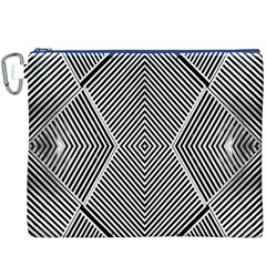 Black And White Line Abstract Canvas Cosmetic Bag (xxxl)