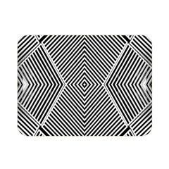 Black And White Line Abstract Double Sided Flano Blanket (mini)