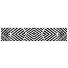 Black And White Line Abstract Flano Scarf (Small)